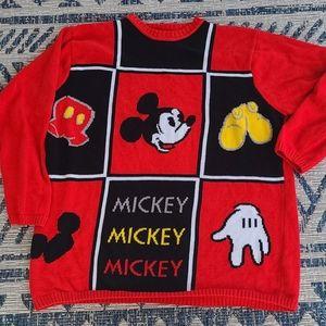 Vintage Mickey Mouse Walt Disney World Crewneck